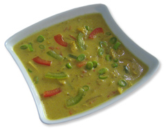 Curry- Hühnersuppe